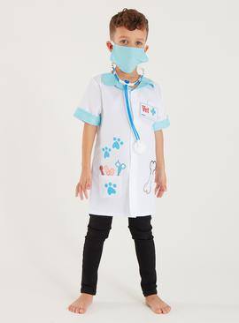 White Vet Costume 4 Piece Set