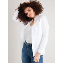 White Embroidered Spot Shirt