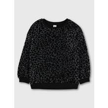 Black Sparkle Animal Print Sweatshirt