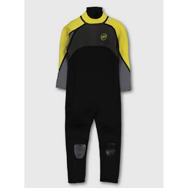 BANANA BITE Yellow & Grey Long Wetsuit