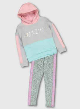 Pastel Dance Hoodie & Leggings Set