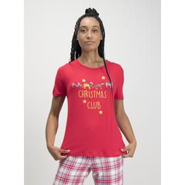 Christmas Red Safari Graphic Pyjama Top