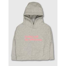 Grey 'Today Will Be Awesome' Slogan Hoodie