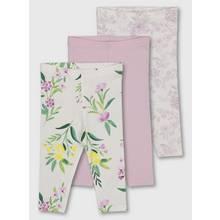 Lilac Floral Print Leggings 3 Pack