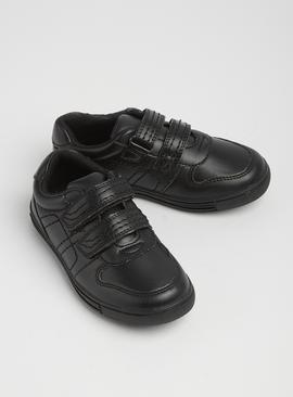 Online Exclusive Black Twin Strap Shoes