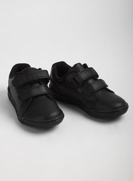 Online Exclusive Black Leather Twin Strap Shoe