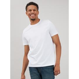 White Crew Neck Plain T-Shirt