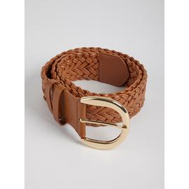 Tan Woven Waist Belt - One Size