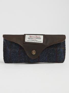 Harris Tweed Blue Check Glasses Case - One Size