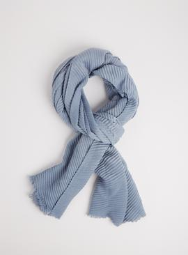 Blue Plissé Sparkle Scarf - One Size