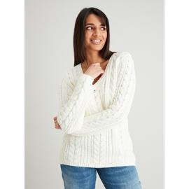 Cream Cable Knit Cricket Jumper