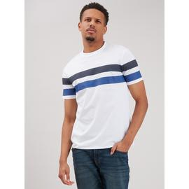 White & Navy Nautical Stripe T-Shirt