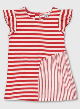 Red Contrasting Stripe T-Shirt