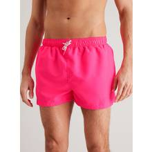 Neon Pink Recycled Super Shortie Swim Shorts