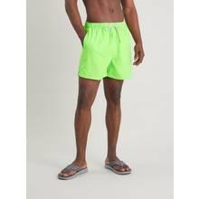 Neon Green Recycled Shortie Swim Shorts