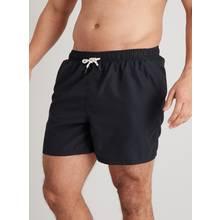 Plain Black Recycled Shortie Swim Shorts