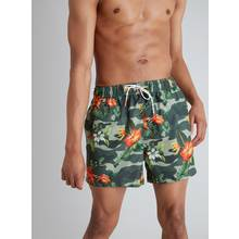 Green Tropical Floral Shortie Recycled Swim Shorts