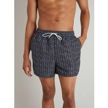 Monochrome Geo Print Recycled Shortie Swim Shorts