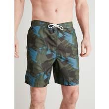Khaki Camo Print Recycled Board Shorts