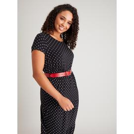 Monochrome Spot Maxi Dress