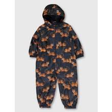 Navy & Orange Tiger Print Puddlesuit