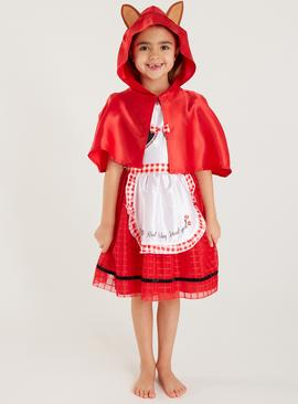 Little Red Riding Hood Dress & Cape Costume