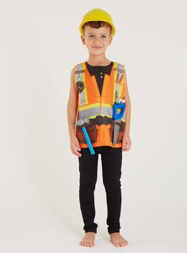 Orange Builder Costume 4 Piece Set