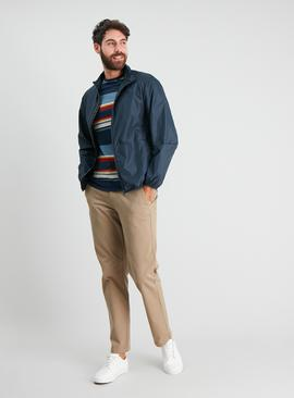 Navy Funnel Neck Mac