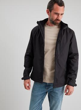 Black Ripstop Sporty Lightweight Jacket