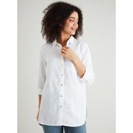 Collection White Pure Linen Shirt
