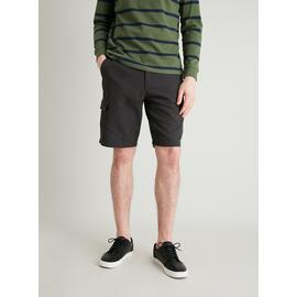 Washed Black Cargo Shorts
