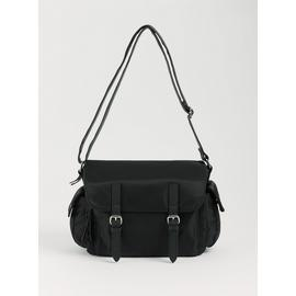 Black Cross Body Satchel - One Size