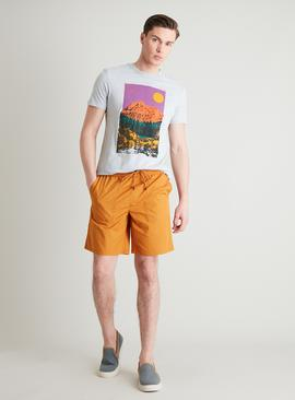 Ochre Pull On Poplin Shorts