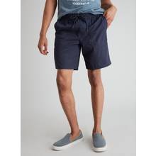 Navy Pull On Poplin Shorts