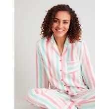 Multicoloured Stripe Full Length Cotton Pyjamas