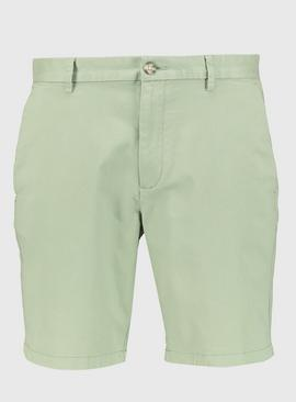 Light Green Chino Shorts With Stretch