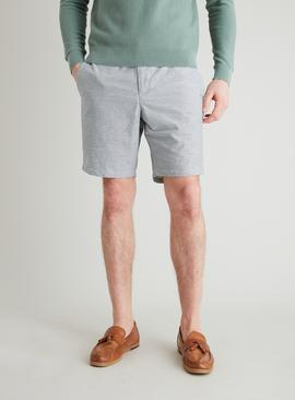 Navy & White Stripe Chino Shorts