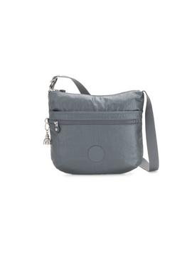 KIPLING Metallic Grey Arto Shoulder Bag - One Size