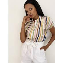 Multicoloured Stripe Short Sleeve Shirt