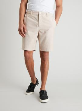 Ochre & Cream Fine Stripe Smart Shorts