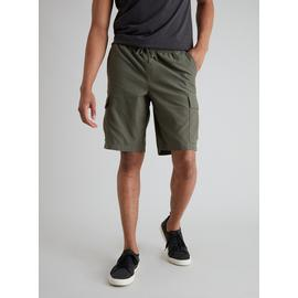 Khaki Pull On Cargo Shorts