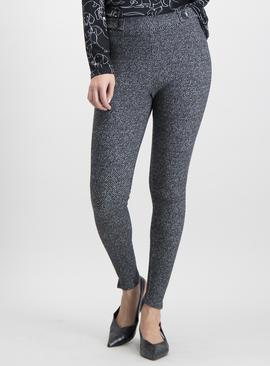 Monochrome Brushed Leggings