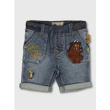 The Gruffalo Embroidered Denim Midwash Shorts