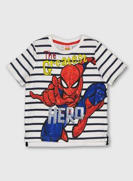Marvel Comics Spider-Man White Stripe T-Shirt