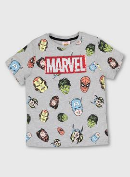 Marvel Grey Marl Reversible Sequin T-Shirt