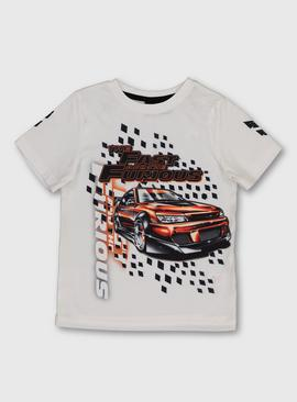 The Fast And The Furious White T-Shirt
