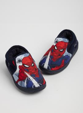 Online Exclusive Marvel Spider-man Blue Slippers