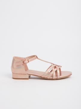 Pink Iridescent Occasion Sandals