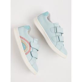 Light Blue Twin Strap Rainbow Trainers