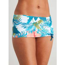 Tropical Print Skirted Bikini Brief